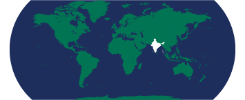 Map highlighting India
